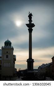 Warsaw Sigismund's Column in Castle Square in Polish capital