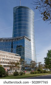 The Warsaw Spire skyscraper. Photo taken at October 14, 2016