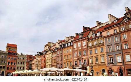 Warsaw,Poland. 17 April 2017.Old Town in Warsaw
