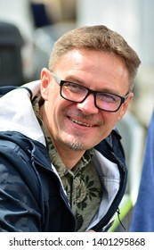 Warsaw,Poland. 18 May 2019. March 'Poland in Europe'. Journalist and publicist Pawel Wronski