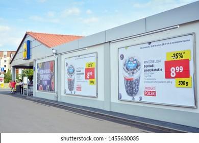 Warsaw,Poland. 19 July 2019..Lidl Supermarket