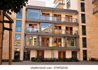 Warsaw,Poland. 26 August 2016. Modern apartment building