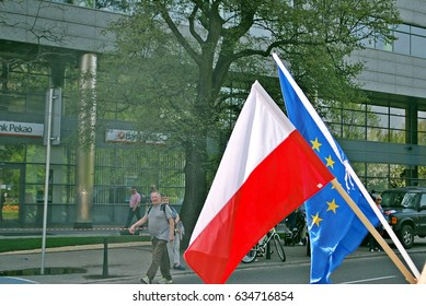 Warsaw.Poland. 6 May 2017.Poland: opposition groups hold 'Liberty March' to protest against government.