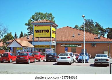Warsaw,Poland. August 2016.Netto Supermarket