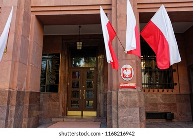WARSAW/POLAND - AUGUST 30, 2018: View on the Ministry of Foreign Affairs (MSZ) building
