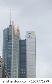 Warsaw/Poland - February 28, 2020: EY (previously Ernst&Young) headquarter in Poland near rondo ONZ