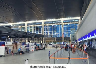 Warsaw,Poland. July 2015. Central Warsaw (Warszawa centralna) railway station