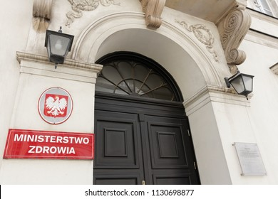 WARSAW/POLAND - JULY 9, 2018: View on Ministry of Health headquarters