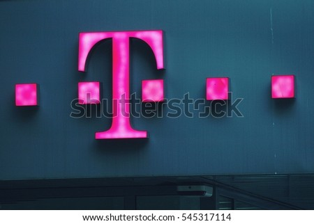 Warsaw Poland May 2016 T Mobile Logo Stock Photo Edit Now