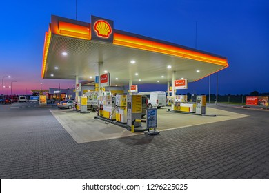 Warsaw,Poland-September 15,2018:SHELL fuel and gas station.Shell, is a British-Dutch oil and gas company headquartered in the Netherlands and incorporated in the United Kingdom.