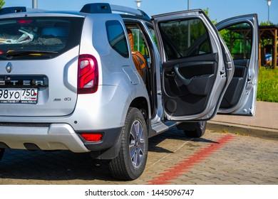 Warshaw region, Poland - June, 30, 2019: car on a parking in Poland