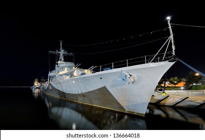 Warship Grom-class destroyer serving in the Polish Navy during World War II, currently preserved as a museum ship in Gdynia, Poland.