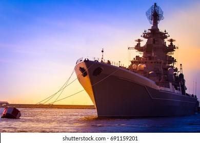 Warship. Large warships.