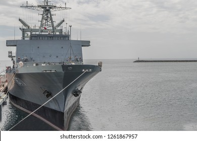 A warship is a ship built for use in warfare. The warships are built differently from the cargo ships. Designed to carry weapons.