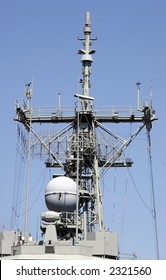 Warships radar and comms tower