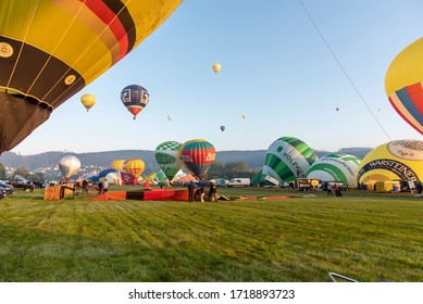 Warstein, Germany, August/31/2019 International balloon festival WIM