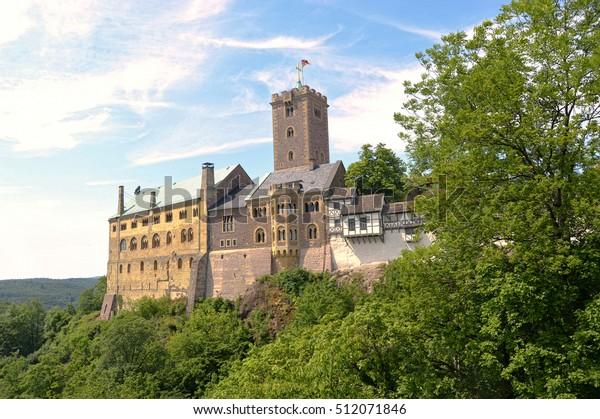 Wartburg in Eisenach, Deutschland, ist ein UNESCO-Weltkulturerbe