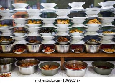 warung food in Indonesia and malaysia