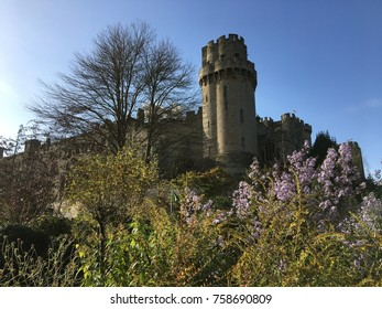 warwick castle is the background