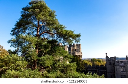 Warwick Castle - Caesar's Tower in Warwick, Warwickshire, United Kingdom on 21 October 2018