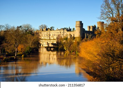 Warwick Castle on a glorious autumn morning, UK
