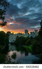Warwick Castle in Sunset