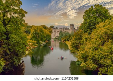 Warwick castle and town in the heart of England UK