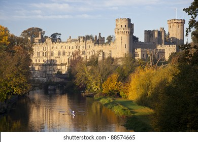 Warwick Castle-early autumn morning