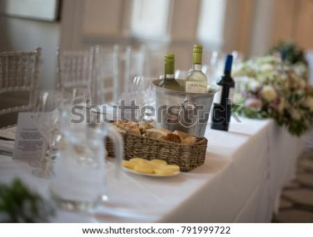 Warwick Uk August 2017 Wedding Breakfast Stock Photo Edit Now