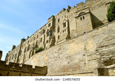 Warwick, Warwickshire, England, United Kingdom - June 24, 2018 : The historical medieval Warwick Castle in Warwickshire
