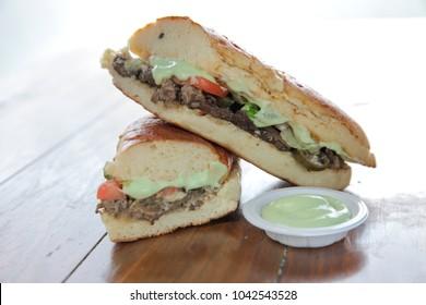 Wasabi beef sandwich japanese style