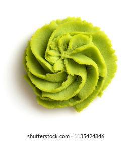 Wasabi portion on white background