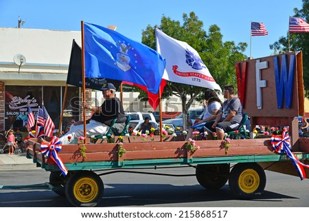 Wasco Ca September 6 2014 Floats Stock Photo Edit Now 215868517