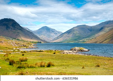 Wasdale Head and Great Gable at Wastwater Lake in the English Lake District