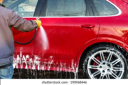 Wash a car