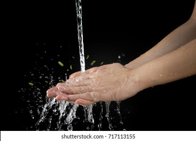 wash hand cleaning dirt and bacteria