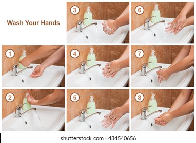 Wash Your Hands steps. Cleaning Hands. Hygiene
