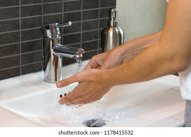 wash your hands with water