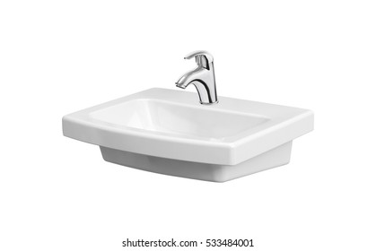 Washbasin isolated on white