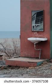 washbasin sink on the street vintage