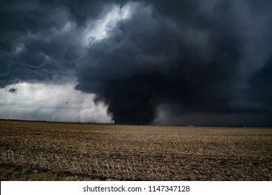 Washburn, Illinois / United States - February 28, 2017:  Rare EF-3 Washburn, Illinois Tornado was one of several tornadoes that occurred during a rare winter severe weather outbreak across the Midwest