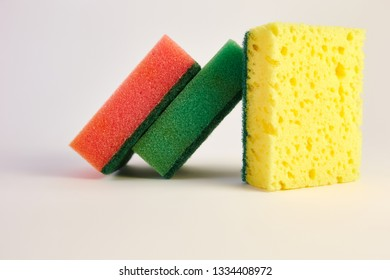 washcloth for washing dishes on a white background
