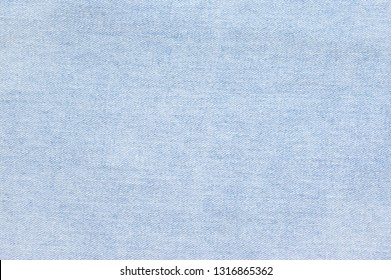 Washed blue denim texture as background.