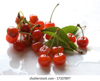 washed cherries