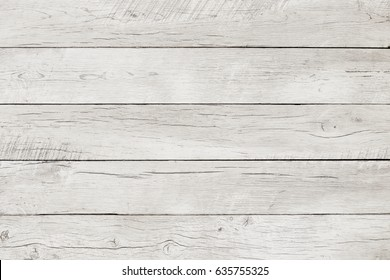 Washed white wooden planks, wood texture background