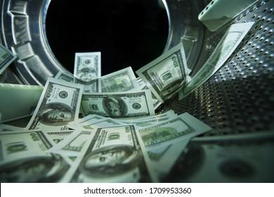 Geldwäsche, Geldwäsche, Konzept des Finanzbetrugs