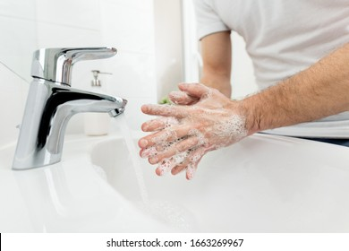 Washing hands with hot water as a prevetion against bacteria and viruses