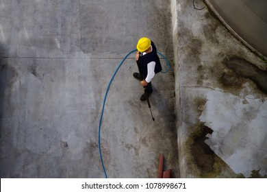 washing industrial premises