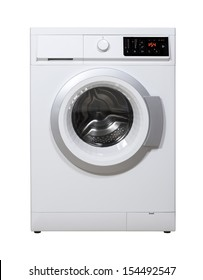 Washing machine isolated on the white background with clipping path.