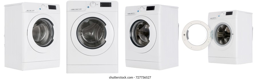 The washing machine on a white background